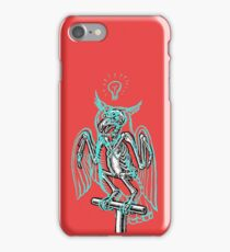 Skeleton of an Owl, with ghostly overlay iPhone Case/Skin