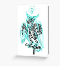 Skeleton of an Owl, with ghostly overlay Greeting Card