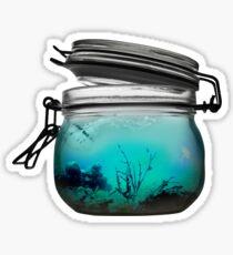 A Jar full of Ocean Sticker