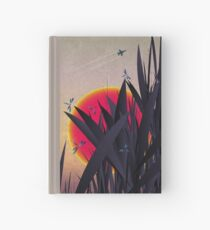 Red Heat (with Dragonflies) Hardcover Journal