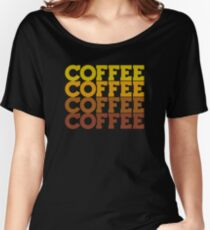 Coffee Stack - From Beans to Brew Women's Relaxed Fit T-Shirt