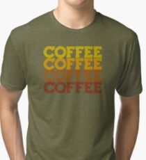Coffee Stack - From Beans to Brew Tri-blend T-Shirt