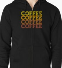Coffee Stack - From Beans to Brew Zipped Hoodie