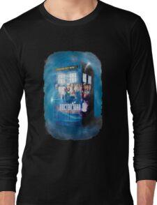 Blue Box Painting tee T-shirt / Hoodie Long Sleeve T-Shirt