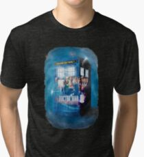 Blue Box Painting tee T-shirt / Hoodie Tri-blend T-Shirt