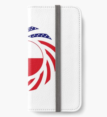Czech American Multinational Patriot Flag Series iPhone Wallet