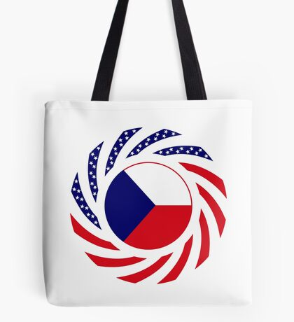 Czech American Multinational Patriot Flag Series Tote Bag
