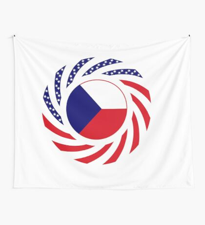 Czech American Multinational Patriot Flag Series Wall Tapestry
