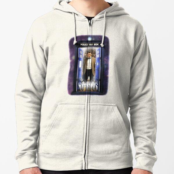 Ninth Doctor Blue Box T-Shirt / Hoodie Zipped Hoodie