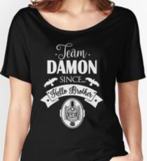 Team Damon Since Hello Brother. Women's Relaxed Fit T-Shirt