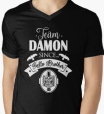 Team Damon Since Hello Brother. Men's V-Neck T-Shirt