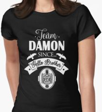 Team Damon Since Hello Brother. Damon Salvatore. TVD. Womens Fitted T-Shirt