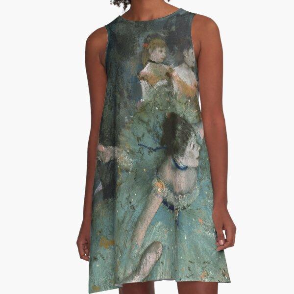 Swaying Dancer - Edgar Degas A-Line Dress