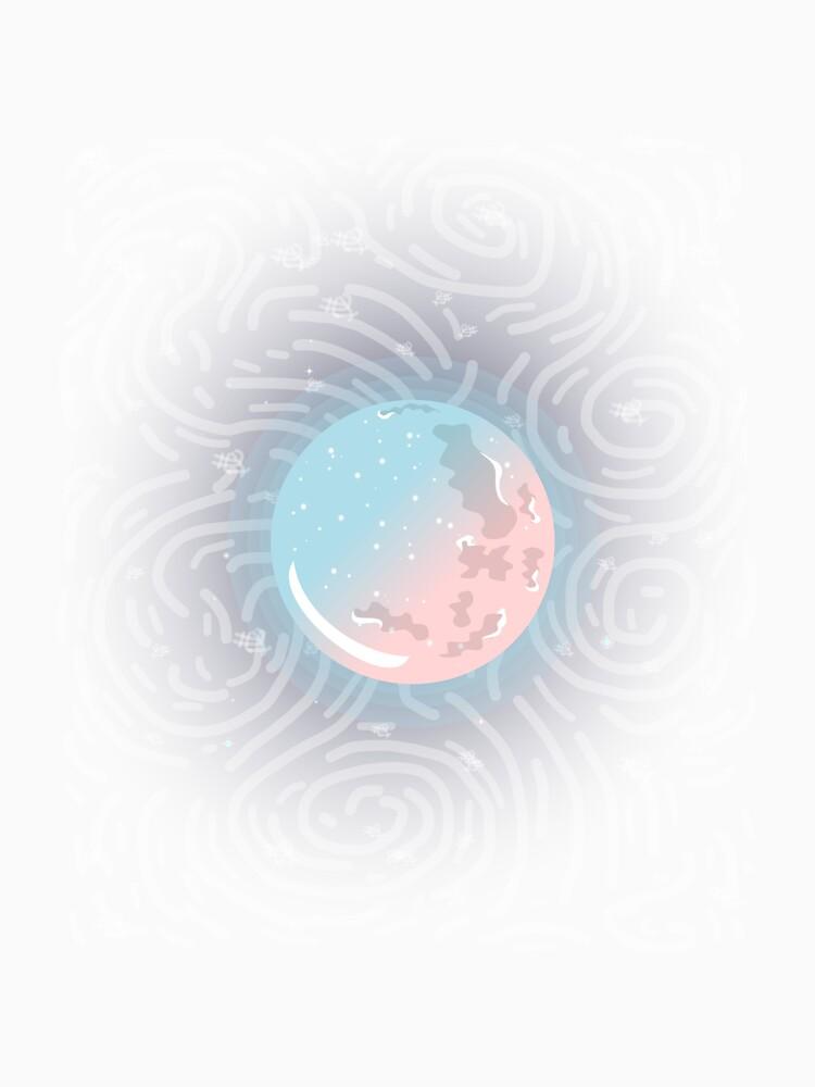 Pink Blue Moon Glow Galaxy by PurpleLoxe