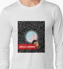 Hella Savage Milky Galaxy Long Sleeve T-Shirt