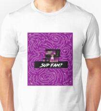 SUP FAM? Purple Spiral Swirls Unisex T-Shirt