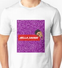 Hella Savage Purple Spiral Swirls Unisex T-Shirt