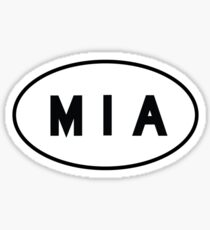 Euro Sticker - MIA - Miami International Airport Sticker