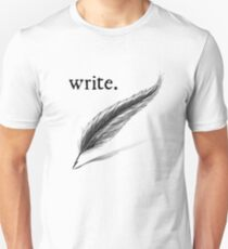 write (quill) Unisex T-Shirt