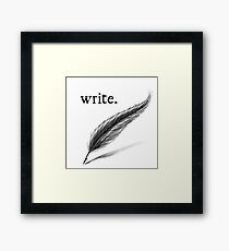 write (quill) Framed Print