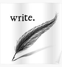 write (quill) Poster