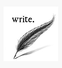 write (quill) Photographic Print