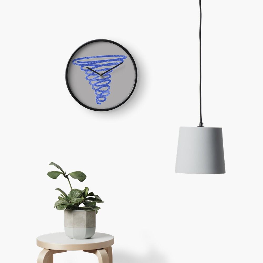 David's Shirt - Blue Spiral (LEGION) Clock