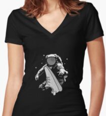 ASTRO YEEZY  Women's Fitted V-Neck T-Shirt