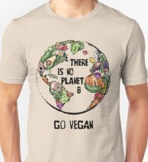 There is no Planet B - Go Vegan Slim Fit T-Shirt