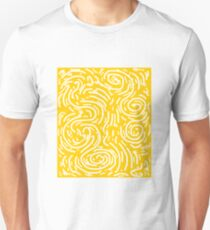 Spiral Swirls Golden Glow  Unisex T-Shirt