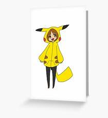Pikachu girl Greeting Card
