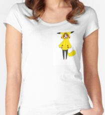 Pikachu girl Women's Fitted Scoop T-Shirt