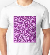 Spiral Swirls Purple Glow Unisex T-Shirt