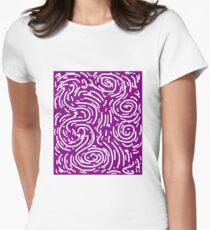 Spiral Swirls Purple Glow Women's Fitted T-Shirt