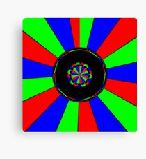 Colorful rays Canvas Print