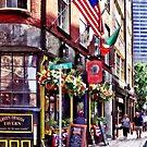 Boston MA - Restaurants on Creek Square by Susan Savad