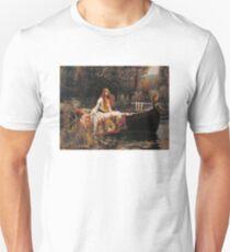 The Lady of Shallot - John William Waterhouse  Unisex T-Shirt