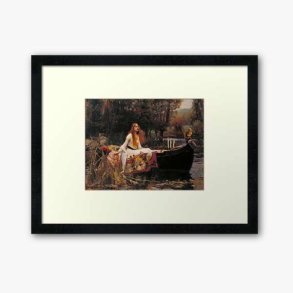 The Lady of Shallot - John William Waterhouse  Framed Art Print