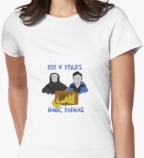 Magic Bananas [Blue Font] Women's Fitted T-Shirt