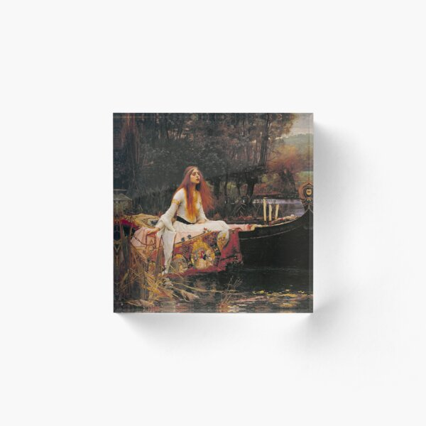 The Lady of Shallot - John William Waterhouse  Acrylic Block