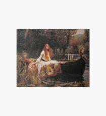 The Lady of Shallot - John William Waterhouse  Art Board Print
