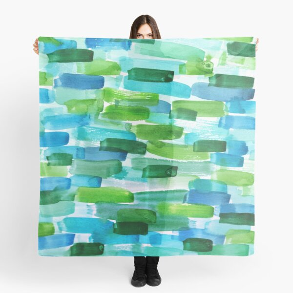Abstract Painting in WaterColor Scarf