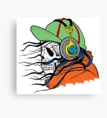 Funky skull Canvas Print