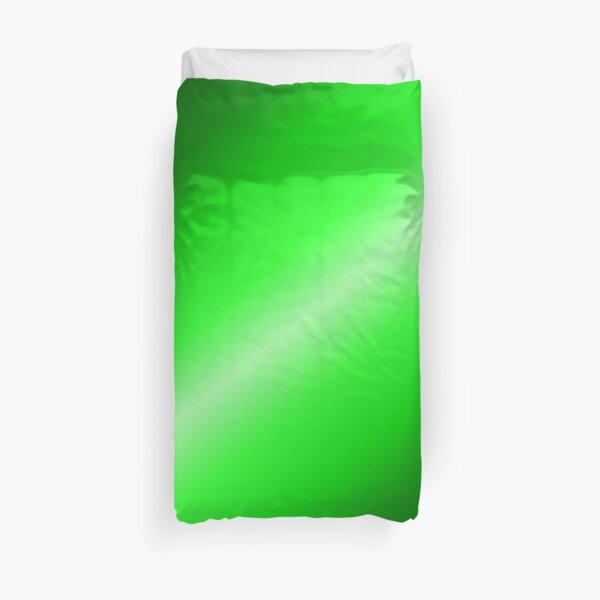 Shades of Bright Green Duvet Cover