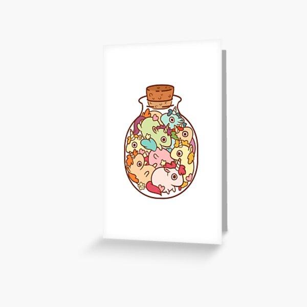 Bottle of Unicorns Greeting Card