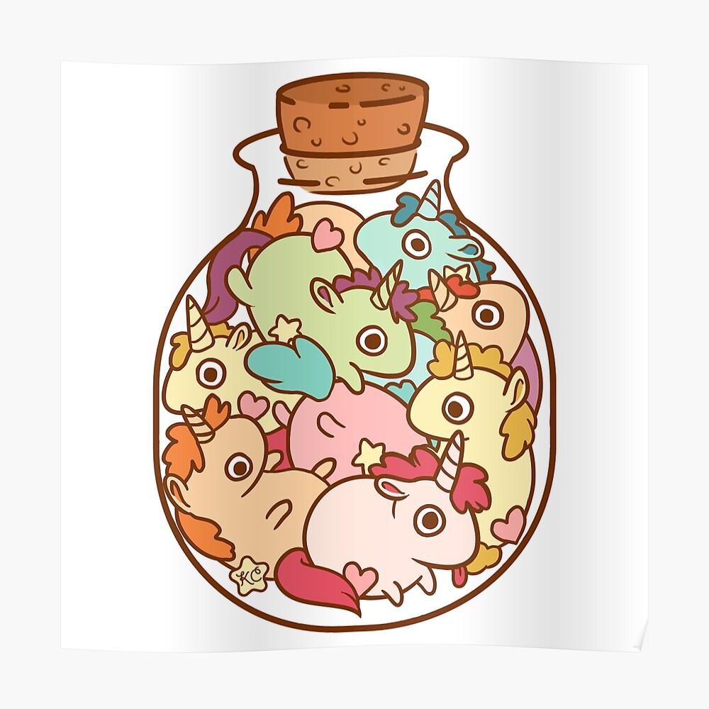 Bottle of Unicorns Poster
