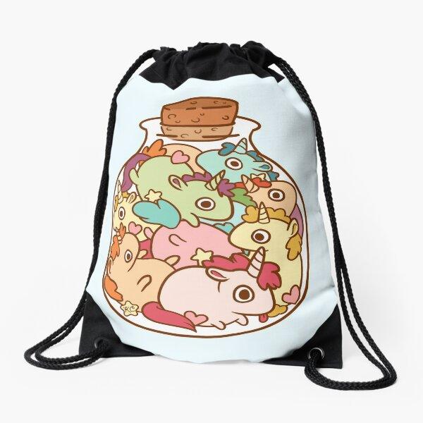 Bottle of Unicorns Drawstring Bag