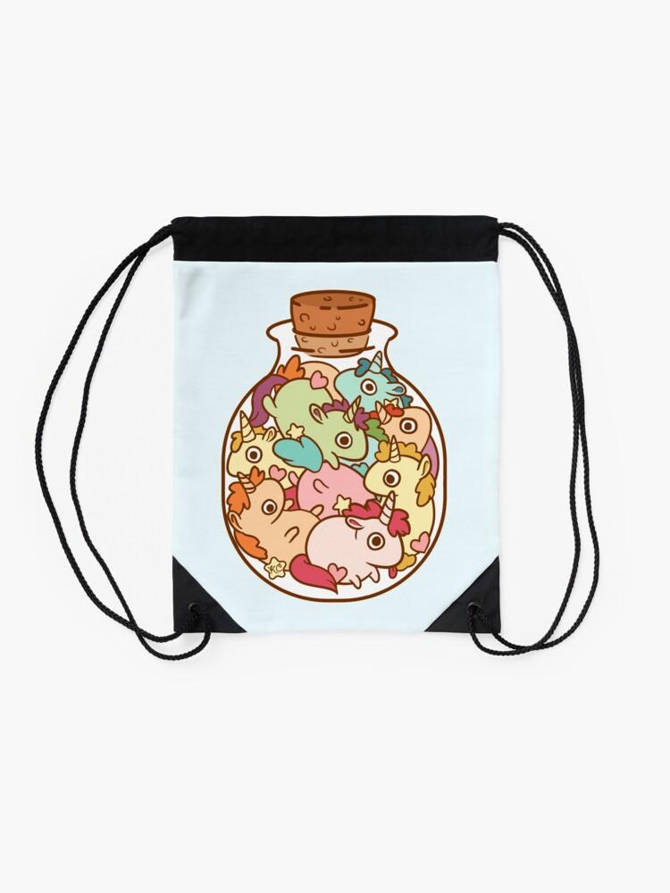 Alternate view of Bottle of Unicorns Drawstring Bag