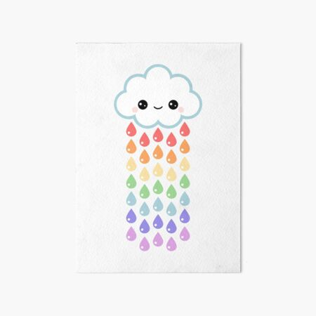 Cute Rain Cloud Art Board Print