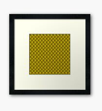 Yellow Dragon Scales Framed Print